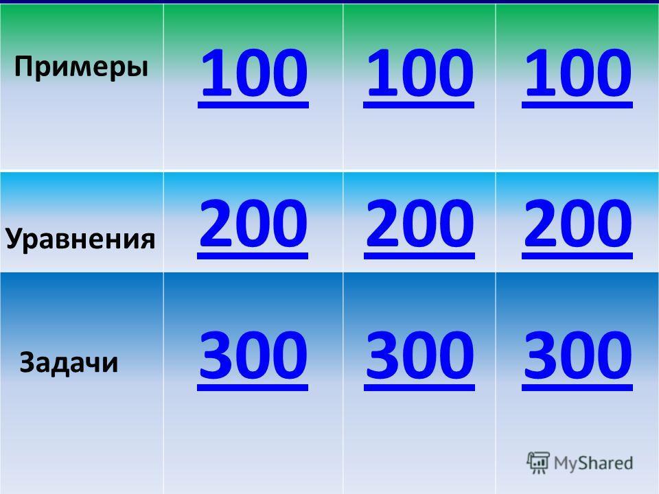 Примеры 100 Уравнения 200 Задачи 300