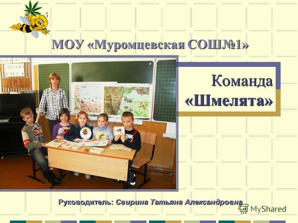Команда «Шмелята» МОУ «Муромцевская СОШ1» Руководитель: Свирина Татьяна Александровна
