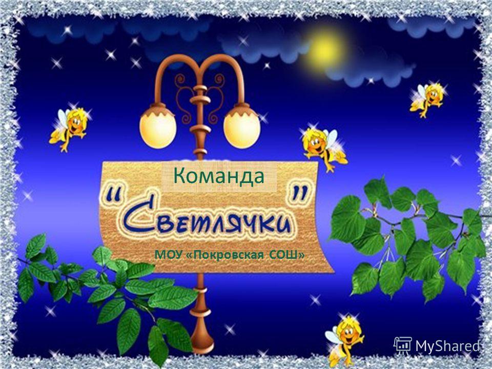 Команда МОУ «Покровская СОШ»