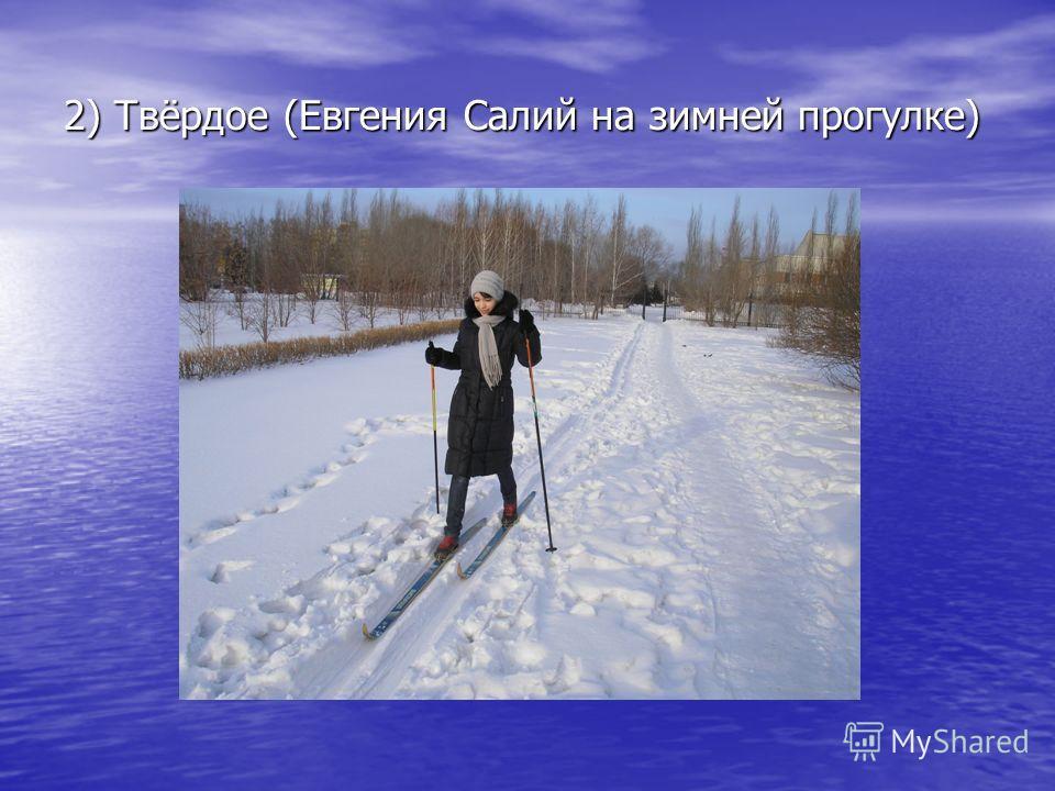 2) Твёрдое (Евгения Салий на зимней прогулке)