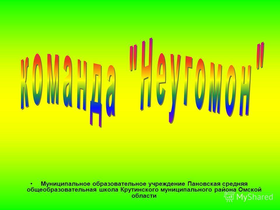 Муниципальное образовательное учреждение Пановская средняя общеобразовательная школа Крутинского муниципального района Омской области