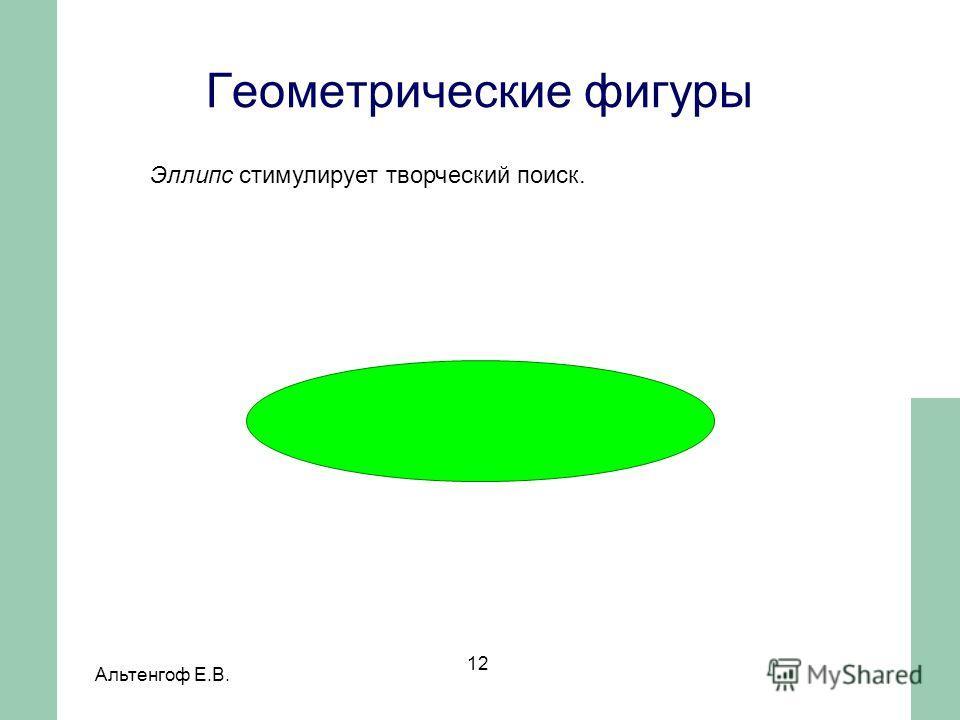 Альтенгоф Е.В. 12 Эллипс стимулирует творческий поиск. Геометрические фигуры