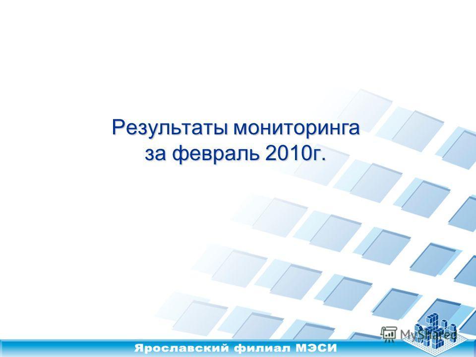 Результаты мониторинга за февраль 2010г.
