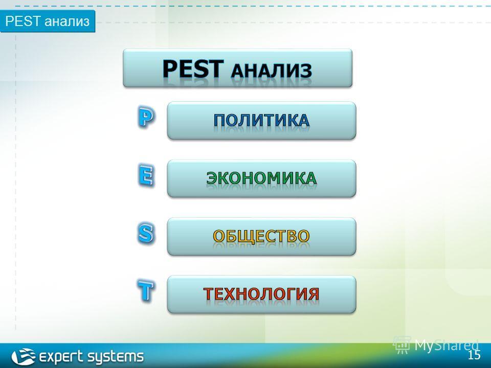 15 PEST анализ