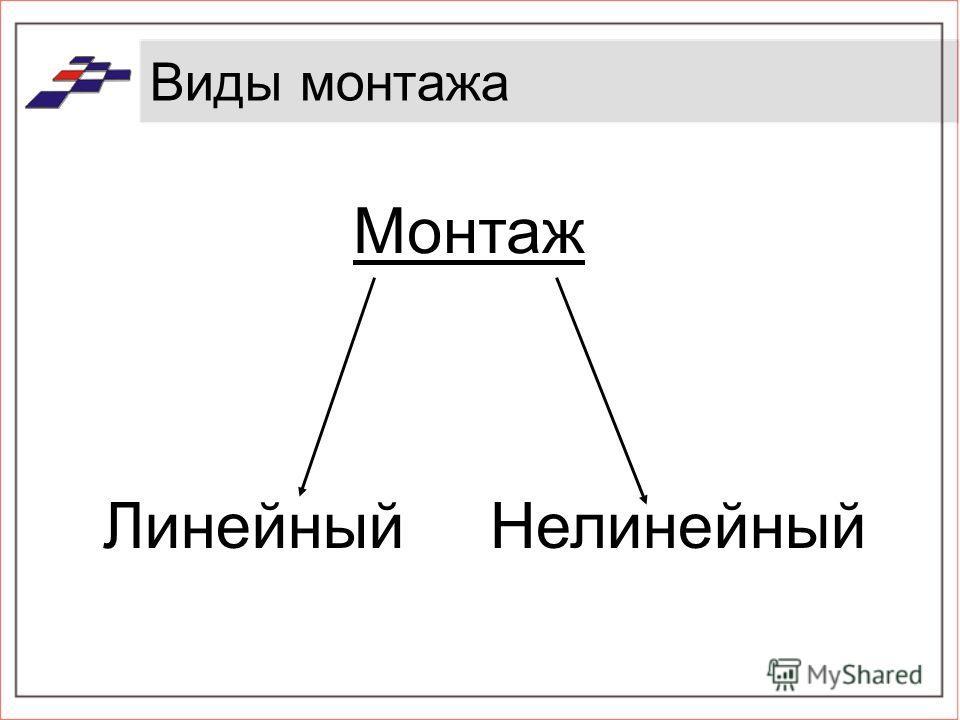 Виды монтажа ЛинейныйНелинейный Монтаж