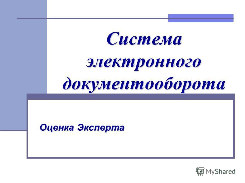 Система электронного документооборота Оценка Эксперта