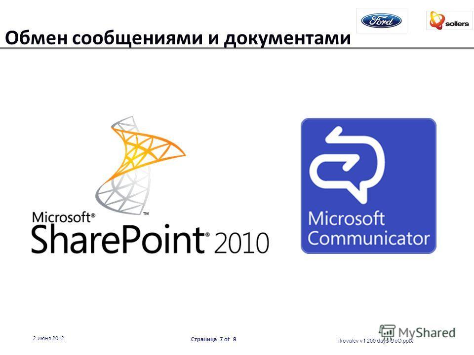 Обмен сообщениями и документами ikovalev v1 200 days OoO.pptx 2 июня 2012 Страница 7 of 8