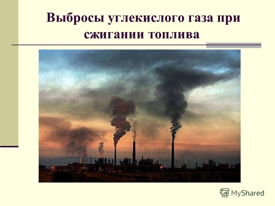 Выбросы углекислого газа при сжигании топлива