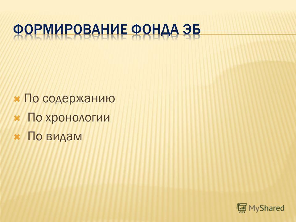 По содержанию По хронологии По видам