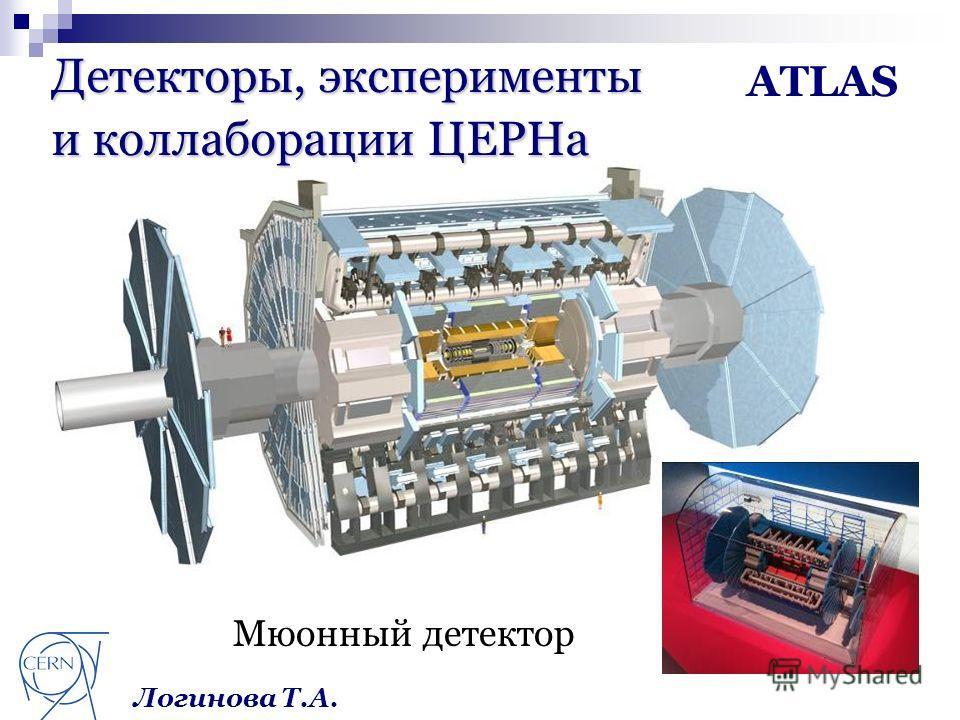 Детекторы, эксперименты и коллаборации ЦЕРНа ATLAS Мюонный детектор Логинова Т.А.