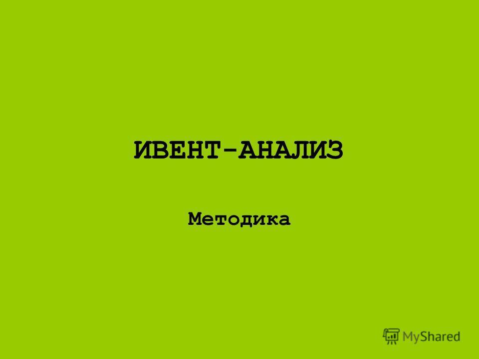 ИВЕНТ-АНАЛИЗ Методика