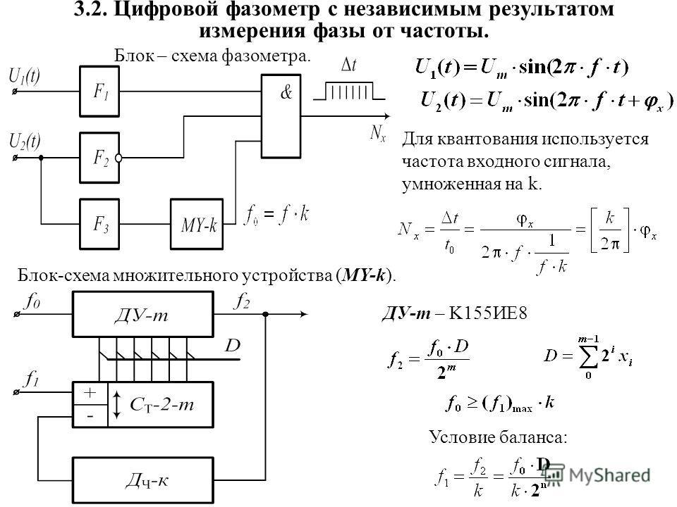 Блок – схема фазометра