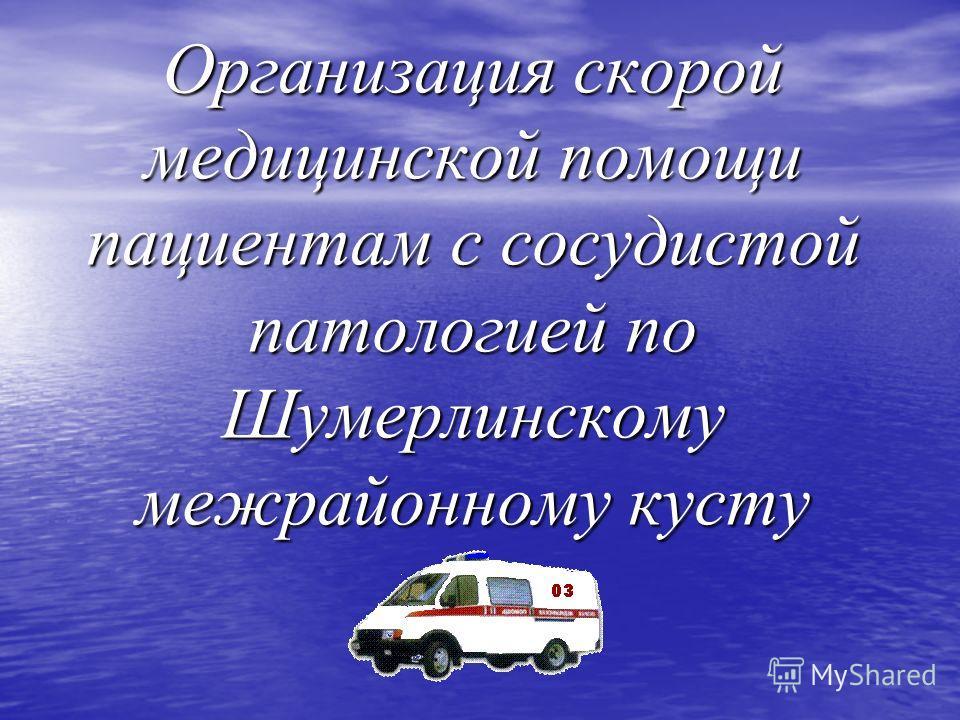 Организация скорой медицинской помощи пациентам с сосудистой патологией по Шумерлинскому межрайонному кусту
