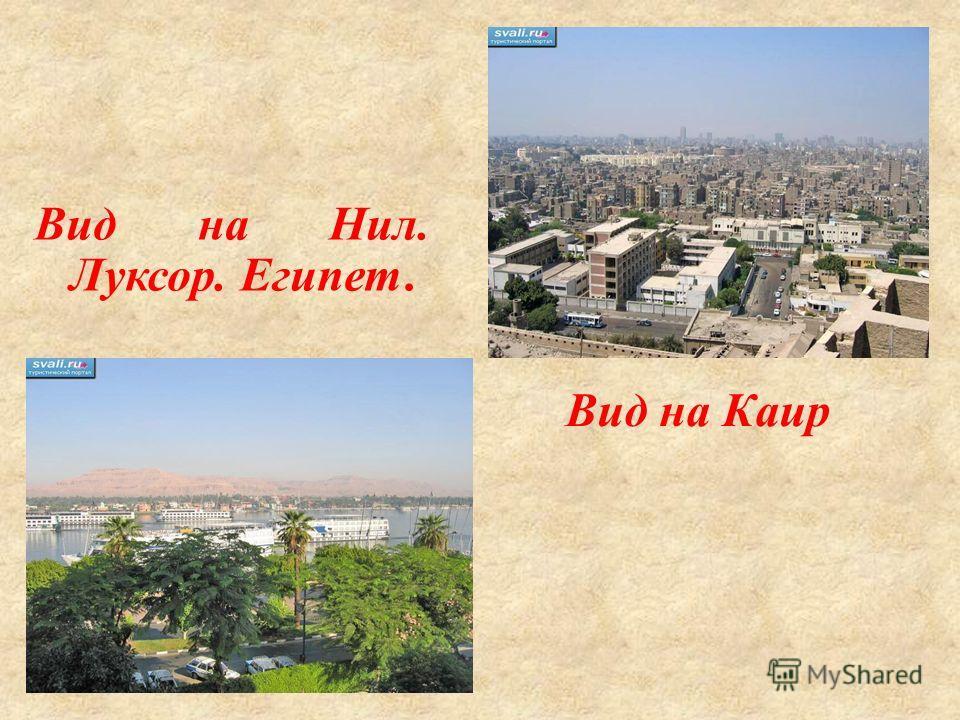 Вид на Каир Вид на Нил. Луксор. Египет.