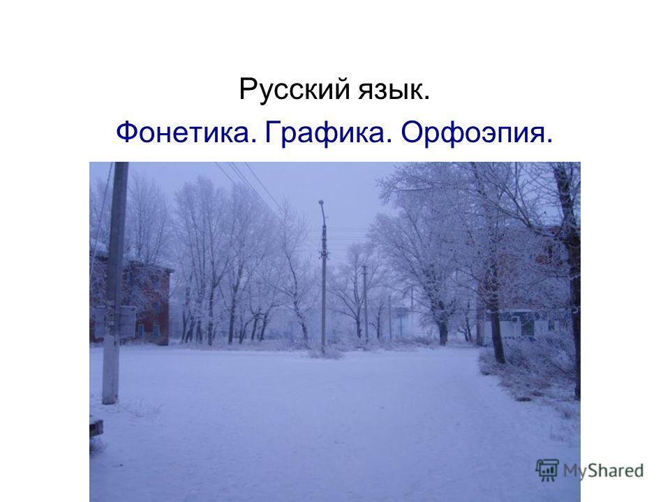 Русский язык. Фонетика. Графика. Орфоэпия.