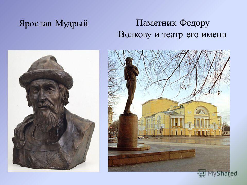 Ярослав Мудрый Памятник Федору Волкову и театр его имени 50