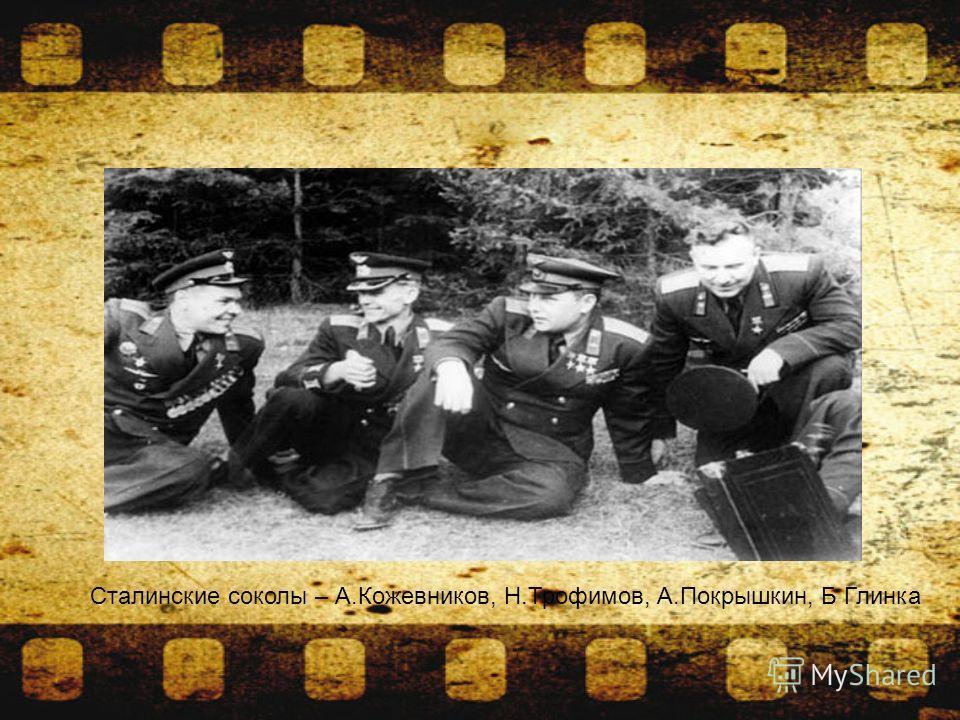 Сталинские соколы – А.Кожевников, Н.Трофимов, А.Покрышкин, Б Глинка