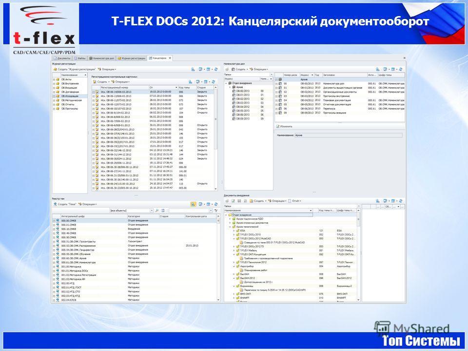 T-FLEX DOCs 2012: Канцелярский документооборот