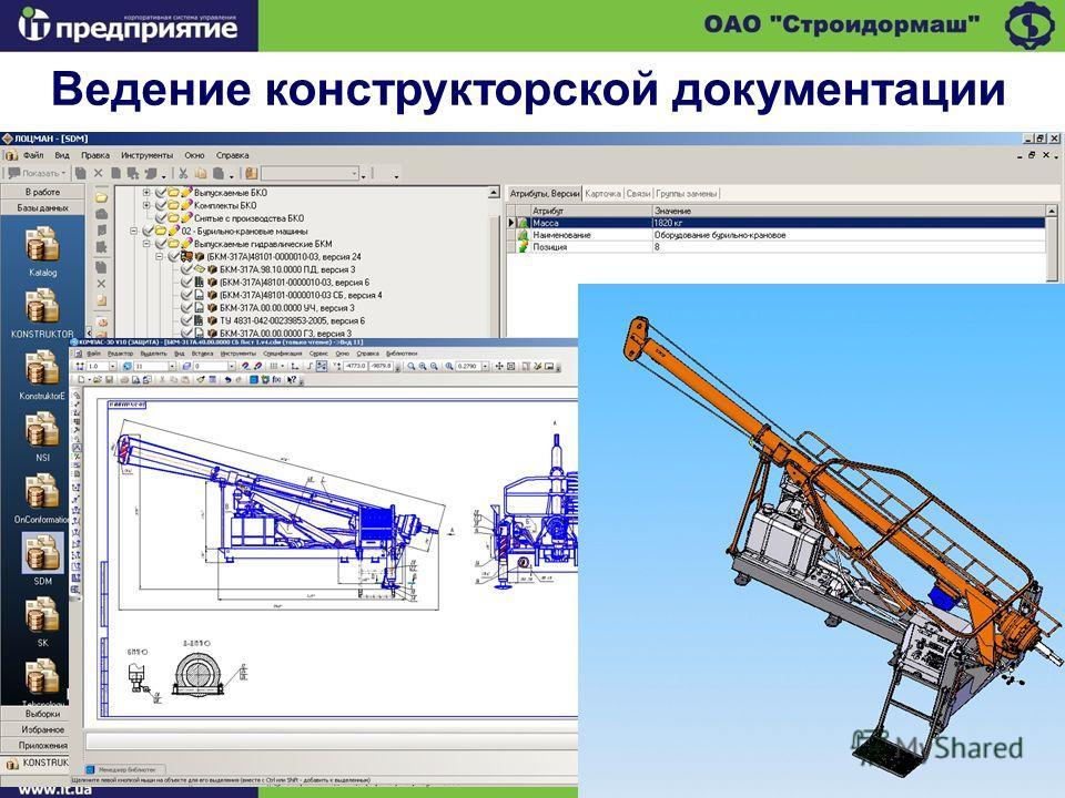Ведение конструкторской документации