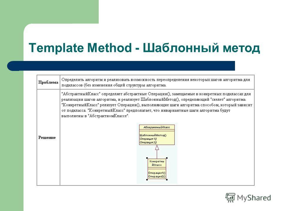 Template Method - Шаблонный метод