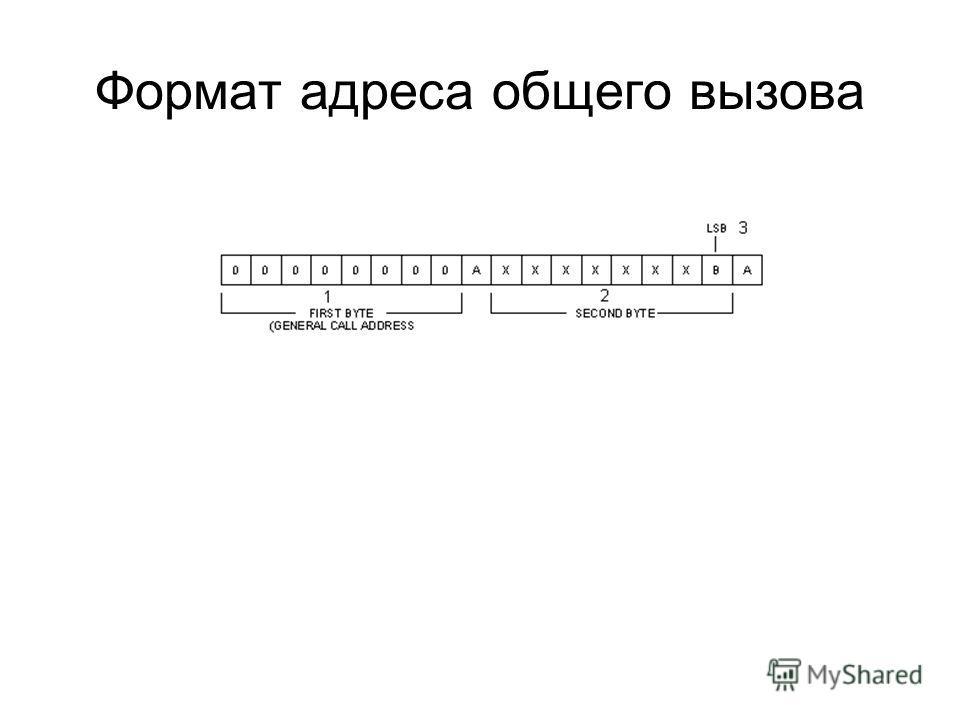 Формат адреса общего вызова