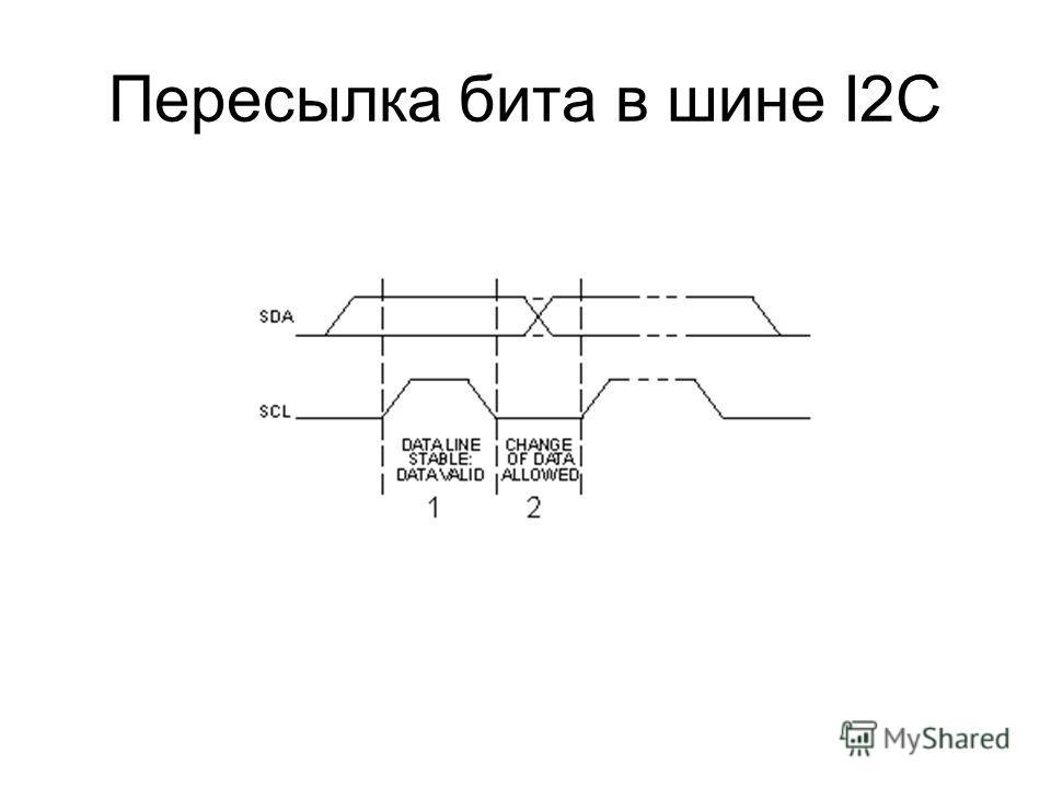 Пересылка бита в шине I2C