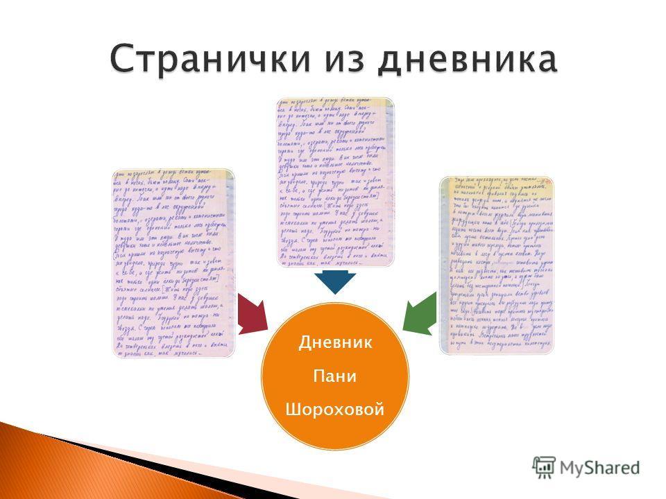 Дневник Пани Шороховой