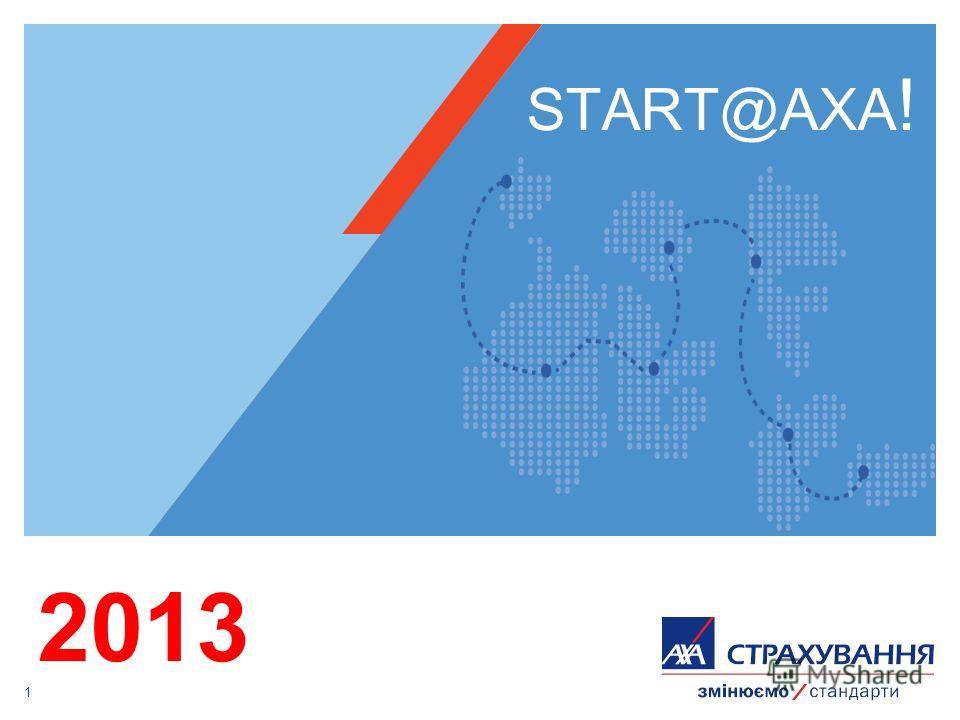 1 START@AXA ! 2013