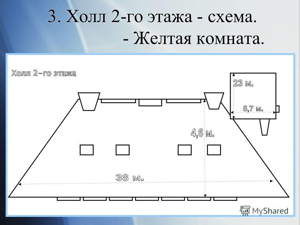 3. Холл 2-го этажа - схема. - Желтая комната.