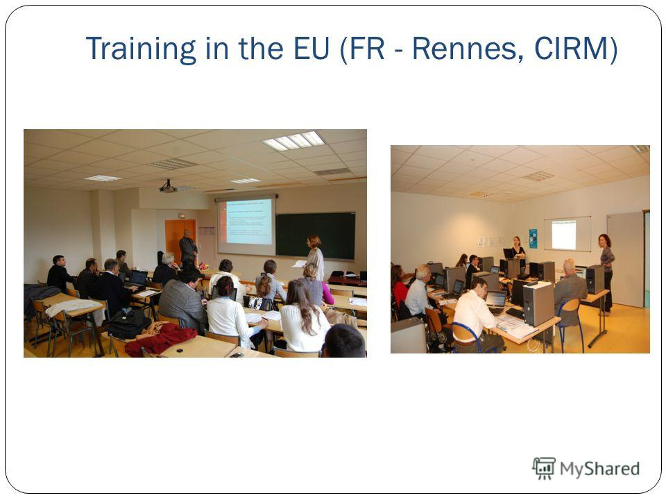 Training in the EU (FR - Rennes, CIRM)