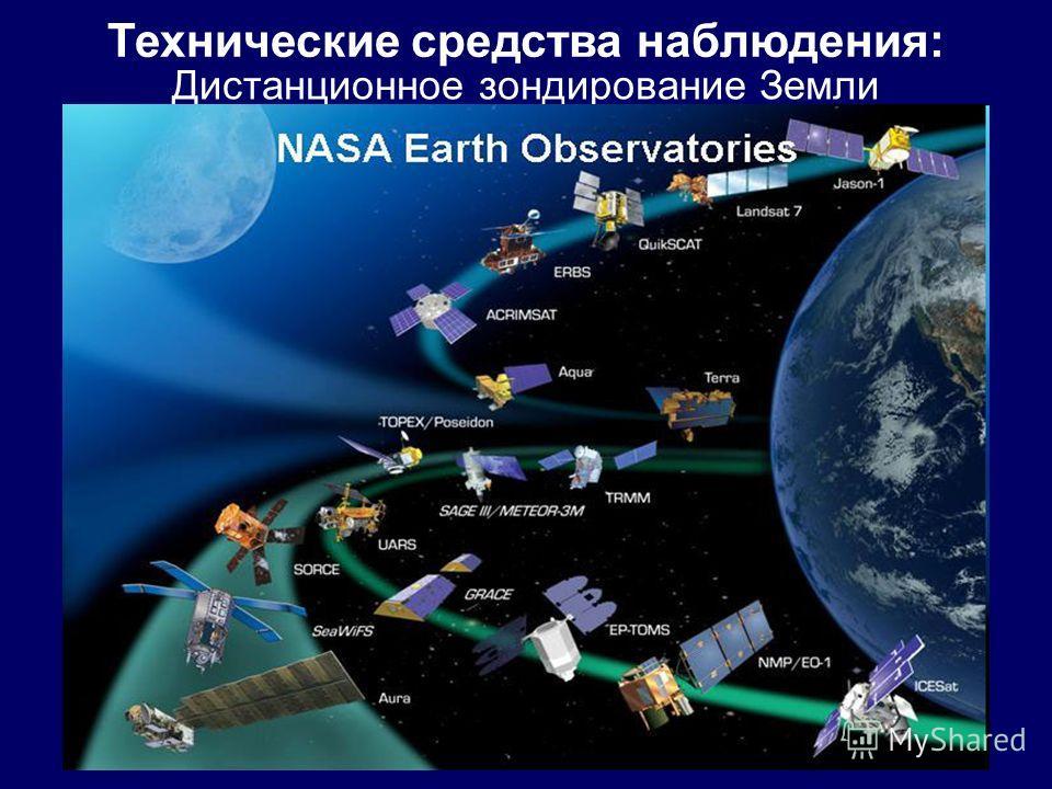 Дистанционное зондирование Земли Технические средства наблюдения: