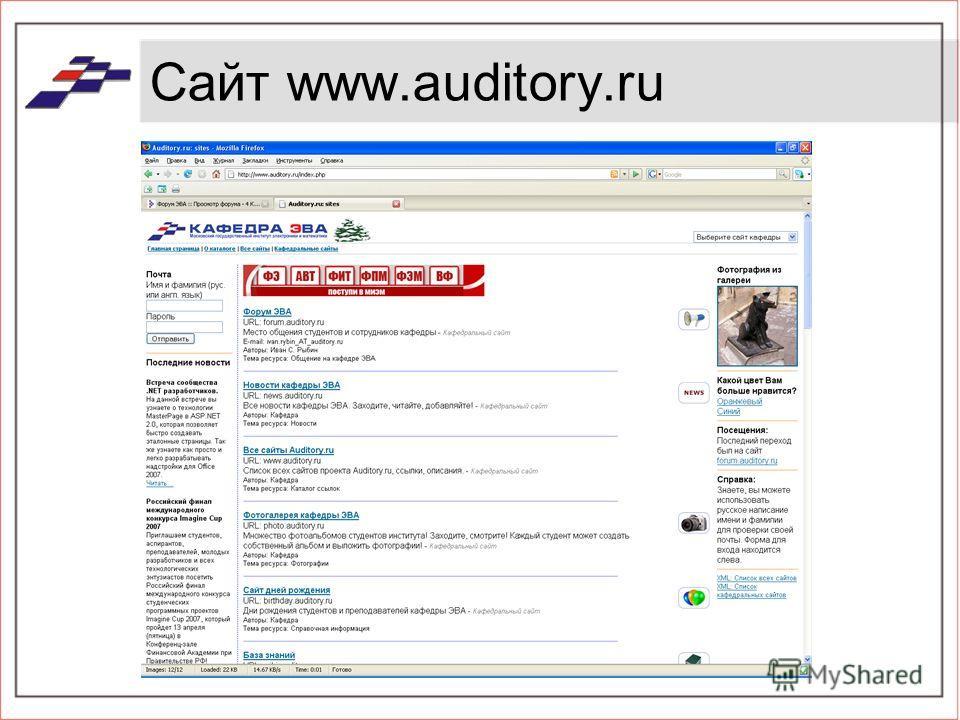 Сайт www.auditory.ru