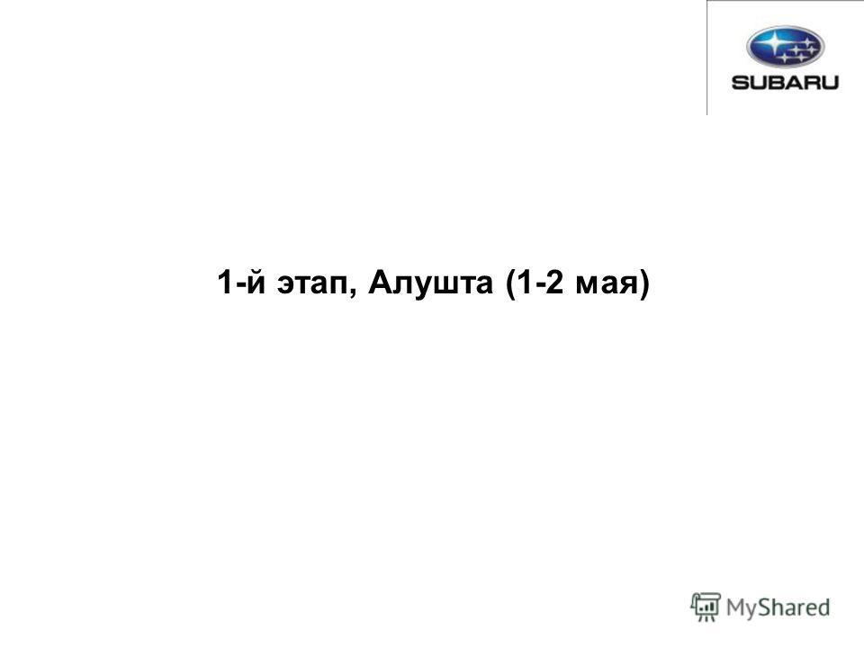 1-й этап, Алушта (1-2 мая)