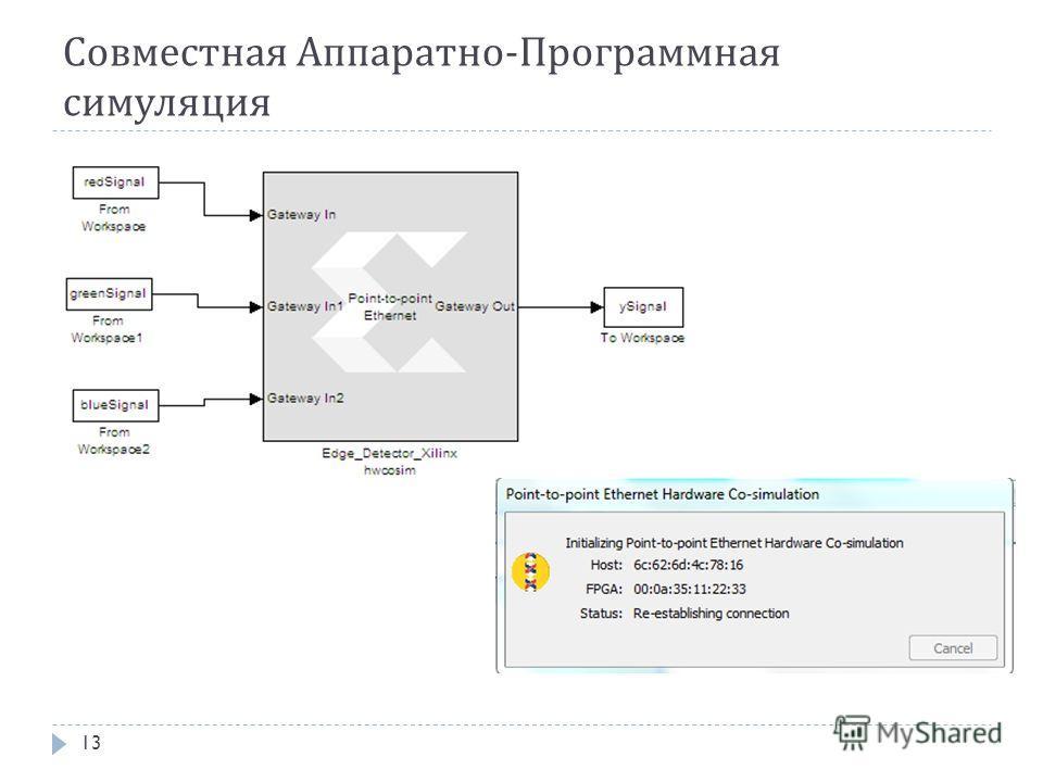 Совместная Аппаратно-Программная симуляция 13