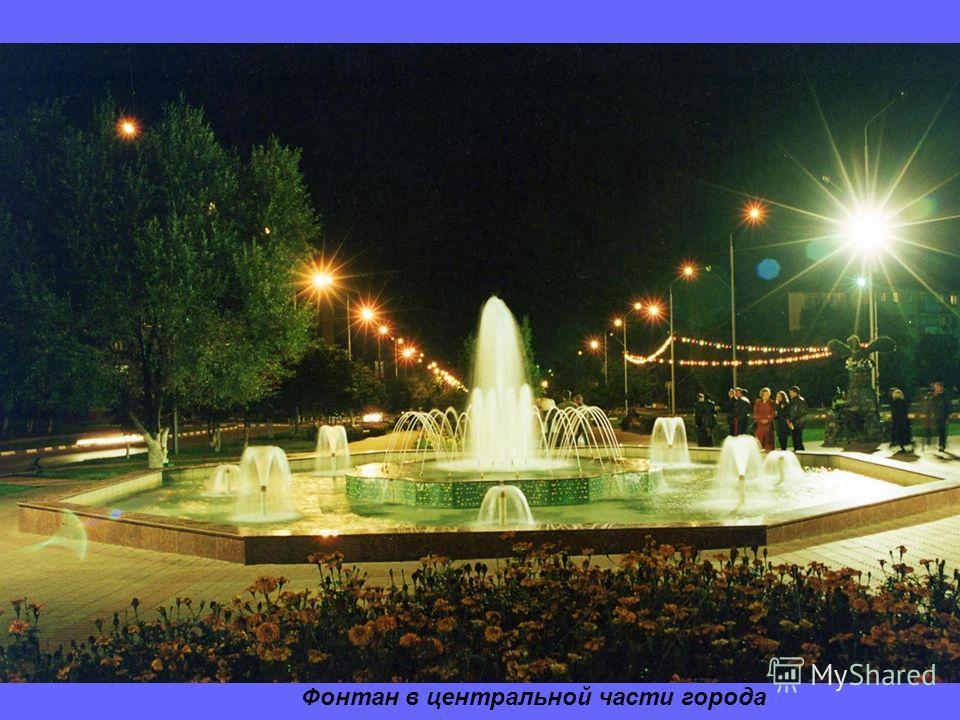 Фонтан в центральной части города