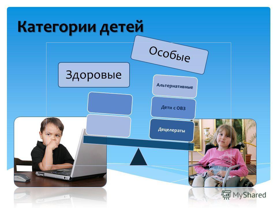 Здоровые Особые ДецелератыДети с ОВЗАльтернативные Категории детей