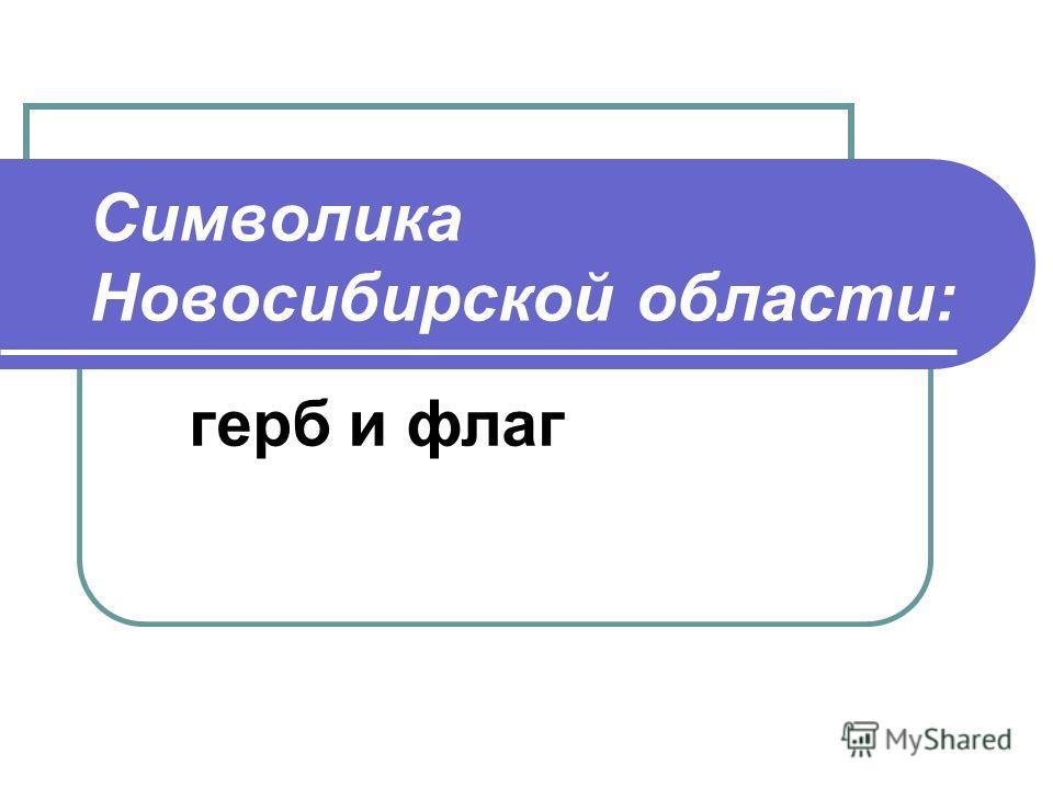 Символика Новосибирской области: герб и флаг