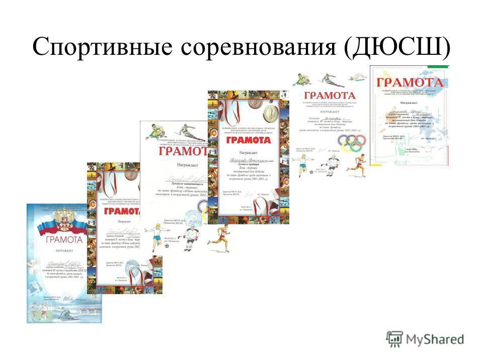 Спортивные соревнования (ДЮСШ)