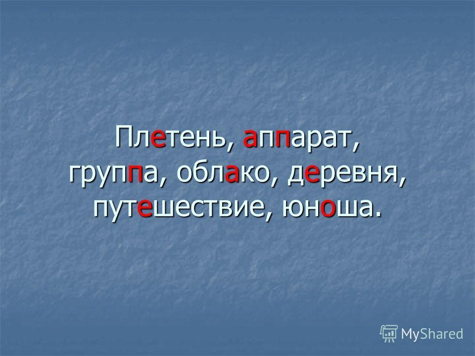 Пл. тень,. п. арат, груп. а, обл. ко, д. ревня, пут. шествие, юн. ша.