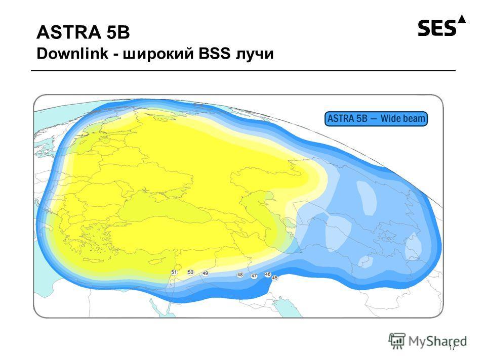ASTRA 5B Downlink - широкий BSS лучи 17