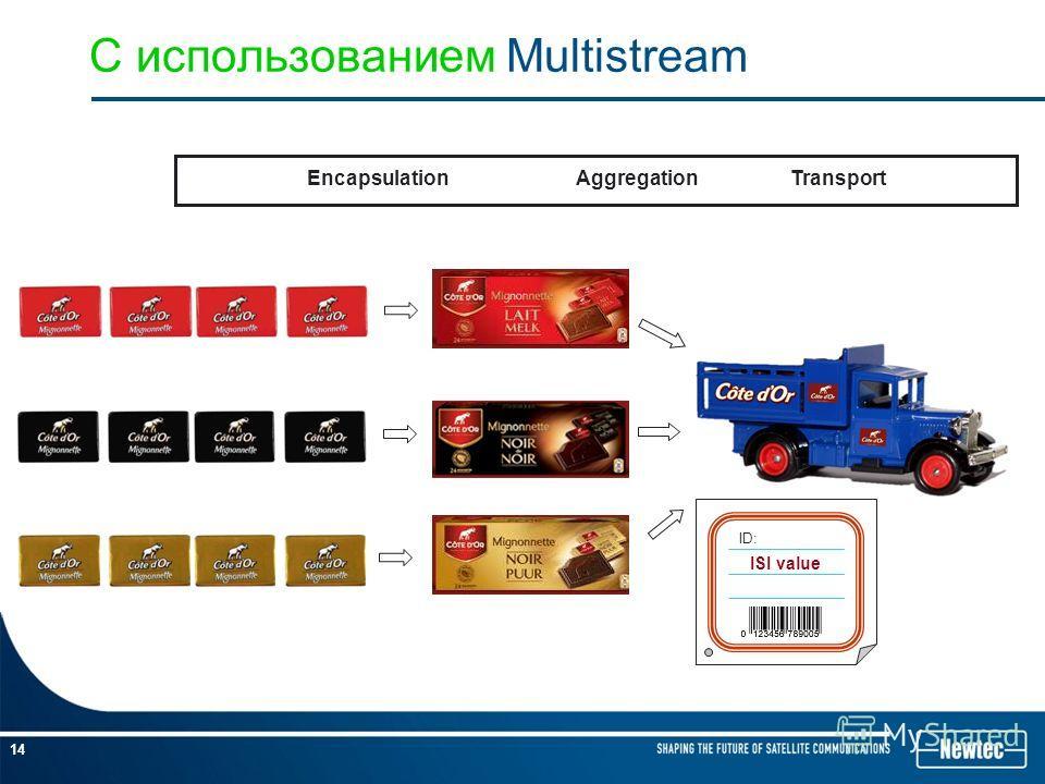 14 С использованием Multistream EncapsulationAggregationTransport ID: ISI value