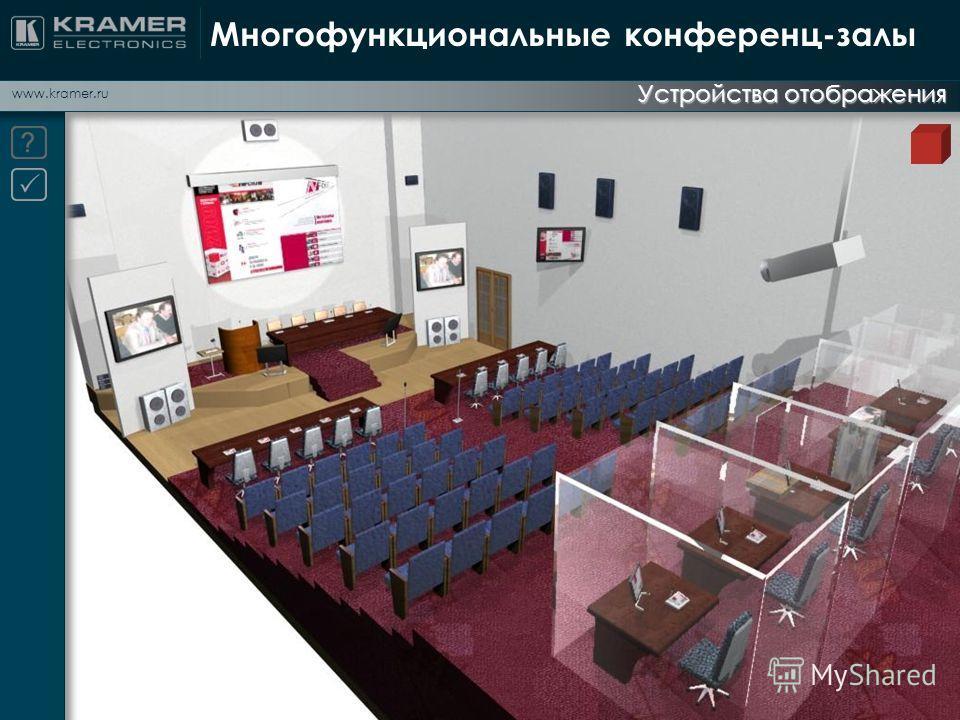 www.kramer.ru Многофункциональные конференц-залы Устройства отображения
