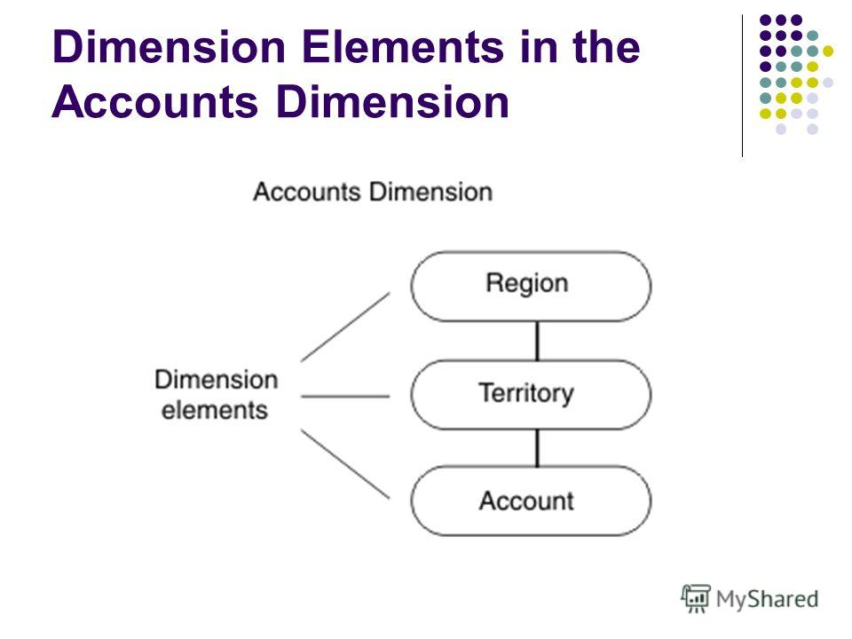 Dimension Elements in the Accounts Dimension