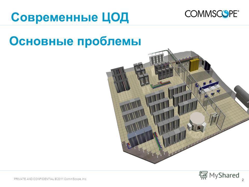 2 PRIVATE AND CONFIDENTIAL © 2011 CommScope, Inc Основные проблемы Современные ЦОД