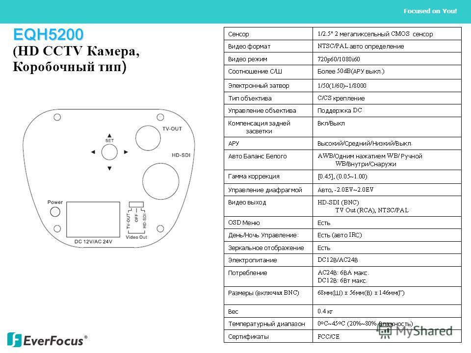 EQH5200 EQH5200 (HD CCTV Камера, Коробочный тип )