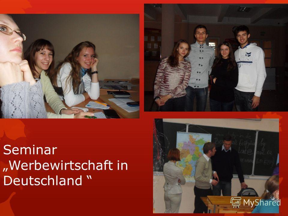 Seminar Werbewirtschaft in Deutschland