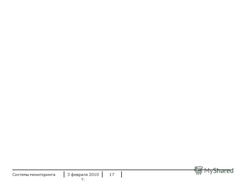 3 февраля 2010 г. Системы мониторинга17