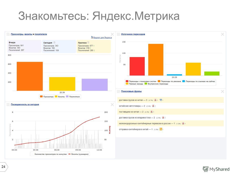 24 Знакомьтесь: Яндекс.Метрика
