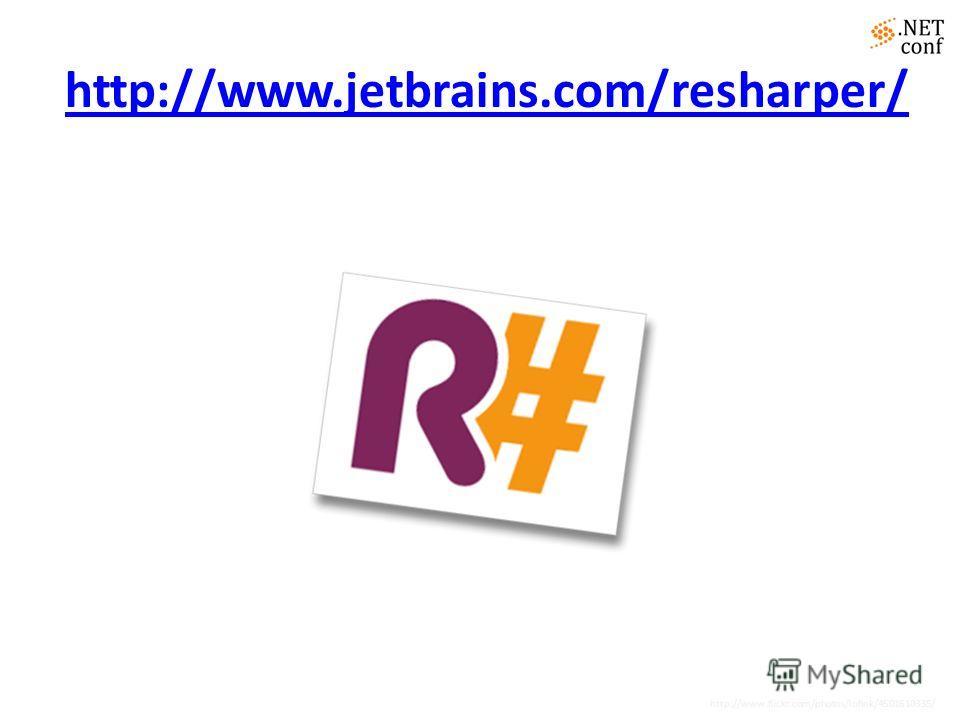 http://www.jetbrains.com/resharper/ http://www.flickr.com/photos/lofink/4501610335/