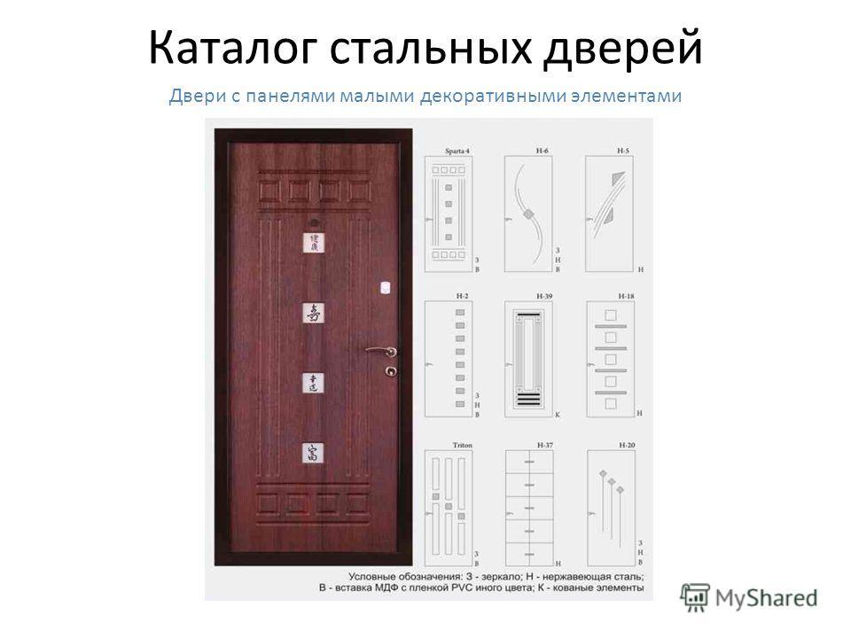 Каталог стальных дверей Двери с отделкой кованой полосой